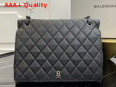 Balenciaga B Large Shoulder Bag in Black Quilted Nappa Calfskin Replica