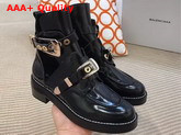 Balenciaga Ceinture Ankle Boots in Black Brushed Calfskin Replica