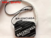 Balenciaga Everyday Camera Bag XS Allover Balenciaga Printe Black Soft Calfskin Replica