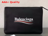 Balenciaga Everyday Pouch M Black Natural Leather Replica