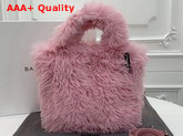 Balenciaga Everyday Tote XS Pale Pink Fake Fur Replica