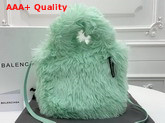 Balenciaga Everyday Tote XXS Light Mint Fake Fur Replica