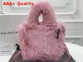 Balenciaga Everyday Tote XXS Pale Pink Fake Fur Replica