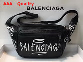 Balenciaga Explorer Beltpack Graffite Black and White Lambskin Belt Pack Replica