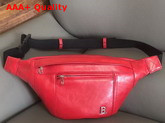 Balenciaga Soft XS Beltpack in Vivid Red Nappa Leather Replica