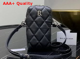 Balenciaga Touch Rectangle Bag in Black Quilted Nappa Calfskin Replica