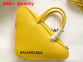 Balenciaga Triangle Duffle S Yellow Calfskin Replica