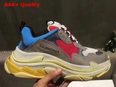 Balenciaga Triple S Trainer Oversize Multimaterial Sneakers with Quilted Effect Replica