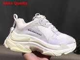 Balenciaga Triple S Trainer in White Oversize Multimaterial Sneakers with Quilted Effect Replica