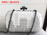 Bottega Veneta Chain Knot in White Monogram Print Nappa Leather Replica