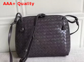 Bottega Veneta Intrecciato Nappa Leather Nodini Bag in Dark Grey Replica