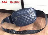Bottega Veneta Intrecciato VN Belt Bag in Blue Calf Leather Replica