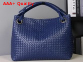 Bottega Veneta Medium Carda Bag in Blue Nappa Leather Replica