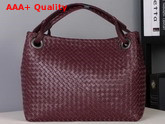 Bottega Veneta Medium Carda Bag in Bordeaux Nappa Leather Replica