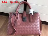 Bottega Veneta Small Roma Bag in Burgundy Intrecciato Calf Leather Replica