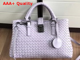 Bottega Veneta Small Roma Bag in Light Purple Intrecciato Calf Leather Replica