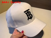 Burberry Monogram Motif Baseball Cap White Cotton Replica