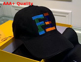 Fendi Baseball Cap Black Cotton Canvas Replica