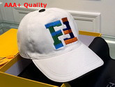 Fendi Baseball Cap White Cotton Canvas Replica