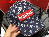 Louis Vuitton Supreme Baseball Hat Monogram Denim Replica