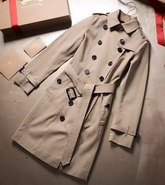 Burberry Chelsea Long Heritage Trench Coat in Stone Color for Sale