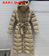 Burberry Detachable Hood Down Filled Coat in Beige Replica