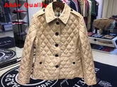 Burberry Diamond Quilted Jacket in Beige Replica