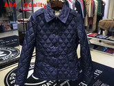 Burberry Diamond Quilted Jacket in Navy Replica