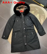 Burberry Down Filled Hooded Coat in Black Replica