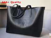Burberry Embossed Monogram Motif Leather Tote in Black Replica