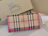 Burberry Horseferry Check And Leather Continental Wallet Fuchsia for Sale