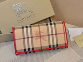 Burberry Horseferry Check And Leather Continental Wallet Orange for Sale