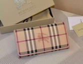 Burberry Horseferry Check And Leather Continental Wallet Pink for Sale