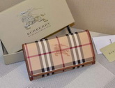 Burberry Horseferry Check And Leather Continental Wallet Tan for Sale