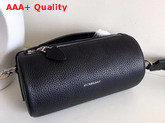 Burberry Leather Barrel Bag in Black Calf Leather Replica