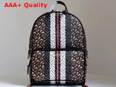 Burberry Monogram Stripe Print E Canvas Backpack Bridle Brown Replica