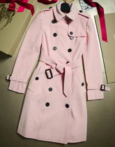 Burberry Sandringham Fit Cashmere Trench Coat Chalk Pink for Sale