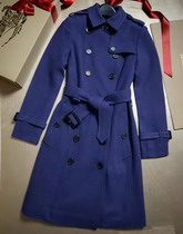 Burberry Sandringham Fit Cashmere Trench Coat Empire Blue for Sale