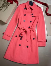 Burberry Sandringham Fit Cashmere Trench Coat Watermelon for Sale
