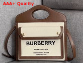 Burberry Small Horseferry Print Pocket Bag Natural and Malt Brown Replica