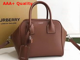 Burberry Small Leather Cube Bag in Brown Replica