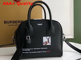 Burberry Small Montage Print Leather Cube Bag in Black Replica