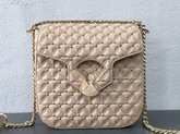 Bvlgari Flap Cover Divas Dream in Linen Agate Nappa Leather Featuring a Quilted Motif Medium Model For Sale