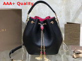Bvlgari Serpenti Forever Bucket Bag in Smooth Black Calf Leather Replica