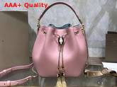 Bvlgari Serpenti Forever Bucket Bag in Smooth Crystal Rose Calf Leather Replica