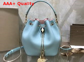 Bvlgari Serpenti Forever Bucket Bag in Smooth Glacier Turquoise Calf Leather Replica