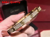 Cartier Love Bracelet Yellow Gold Allover Diamonds Replica