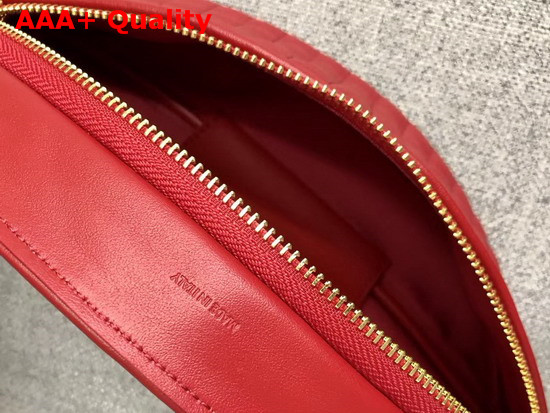 Celine Belt Bag C Charm in Quilted Calfskin Red Replica