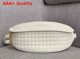 Celine Belt Bag C Charm in Quilted Calfskin White Replica