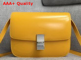 Celine Box Bag in Yellow Smooth Calfskin Replica
